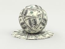 A lot of money. (dollars stock illustration