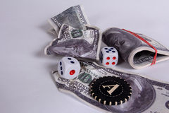 It is a lot of money. A prize in a casino Royalty Free Stock Images