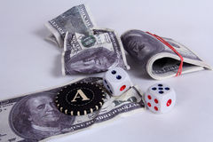 It is a lot of money. A prize in a casino Stock Photos