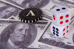 It is a lot of money. A prize in a casino Royalty Free Stock Image