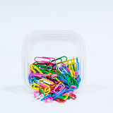 A lot of multi color paper clip Royalty Free Stock Images