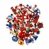 Lot of multicolored Christmas decorations Stock Image