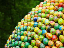 A lot of multicolored easter eggs. Stock Image