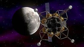 lot na księżyc royalty ilustracja
