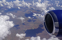 Lot nad Afryka Zdjęcia Royalty Free