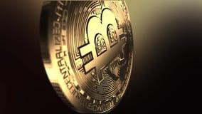 Lot nad bitcoin - makro- strzał zbiory wideo