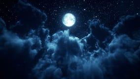 Lot Nad chmurami - Zapętla Luksusowego błękitnego krystalicznej fasety tło ilustracja wektor