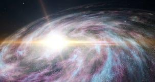 Lot nad galaxy ilustracji