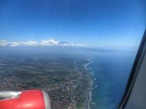 Lot nad Jawa wyspą Obraz Stock