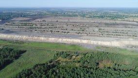 Lot nad kopalnią zdjęcie wideo