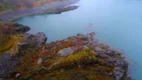 Lot nad krajobrazem Snowdonia park narodowy Walia na mgłowym dniu zbiory