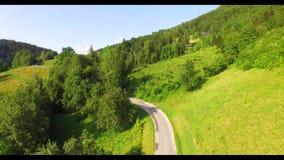 Lot nad lasem w Alps zbiory