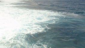 Lot nad ocean fala zbiory wideo