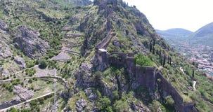 Lot nad ruinami antyczny forteca zbiory
