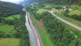 Lot nad rzeką zbiory wideo