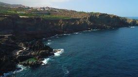 Lot nad seashore przy Tenerife zdjęcie wideo