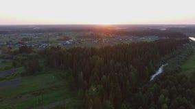 Lot nad wioską zdjęcie wideo