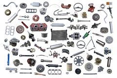 Lot of new auto spare Stock Images