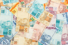 A lot of new real notes. royalty free stock images