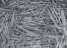 A lot of new steel nails Royalty Free Stock Image