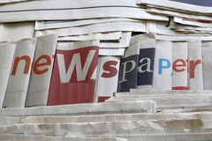 A lot of newspapers background Royalty Free Stock Photography