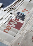 A lot of newspapers Royalty Free Stock Photos