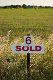 Lot Number 6 Sold. Field marked as number 6 has been sold royalty free stock photography