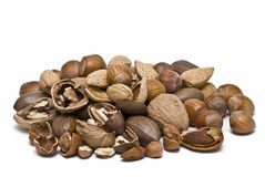 A lot of nuts. Stock Photos