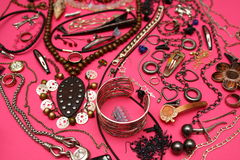 A lot of object. In pink thing for women Royalty Free Stock Photos