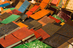 A lot of old agendas of many colors Royalty Free Stock Image