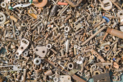 A lot of old bolts and nuts Stock Photos