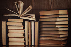 A lot of old books Royalty Free Stock Photo