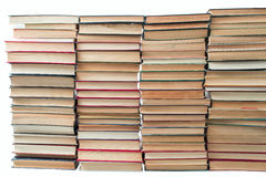 A lot of old books. With yellowed pages Royalty Free Stock Images