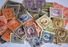 Lot of old branded stamps Royalty Free Stock Image