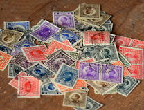 Lot of old branded stamps Stock Photography