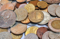 A lot of old coins Stock Photography