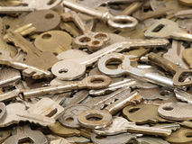 Lot of old keys. Stock Images