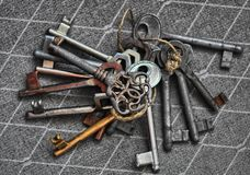 Lot of old keys Royalty Free Stock Image