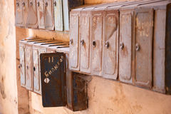 Lot of old mailboxes Stock Photography
