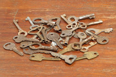 A lot of old metal keys. Royalty Free Stock Images