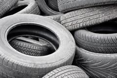 Lot of old tires Royalty Free Stock Photos