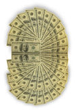 A lot of one-hundred banknotes Royalty Free Stock Image