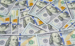 Lot of one hundred dollar bills Royalty Free Stock Images
