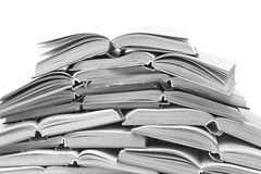 A lot of open books royalty free stock image