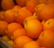 A lot of oranges on the counter royalty free stock photography