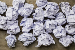 A lot of paper ball in office hours Royalty Free Stock Photos