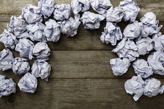 A lot of paper ball in office hours Royalty Free Stock Photo