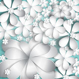 It is a lot of paper flowers Royalty Free Stock Images