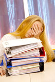 A lot of paper work. Stock Image