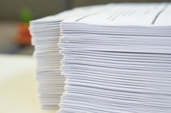 Lot of paperwork Stock Photography